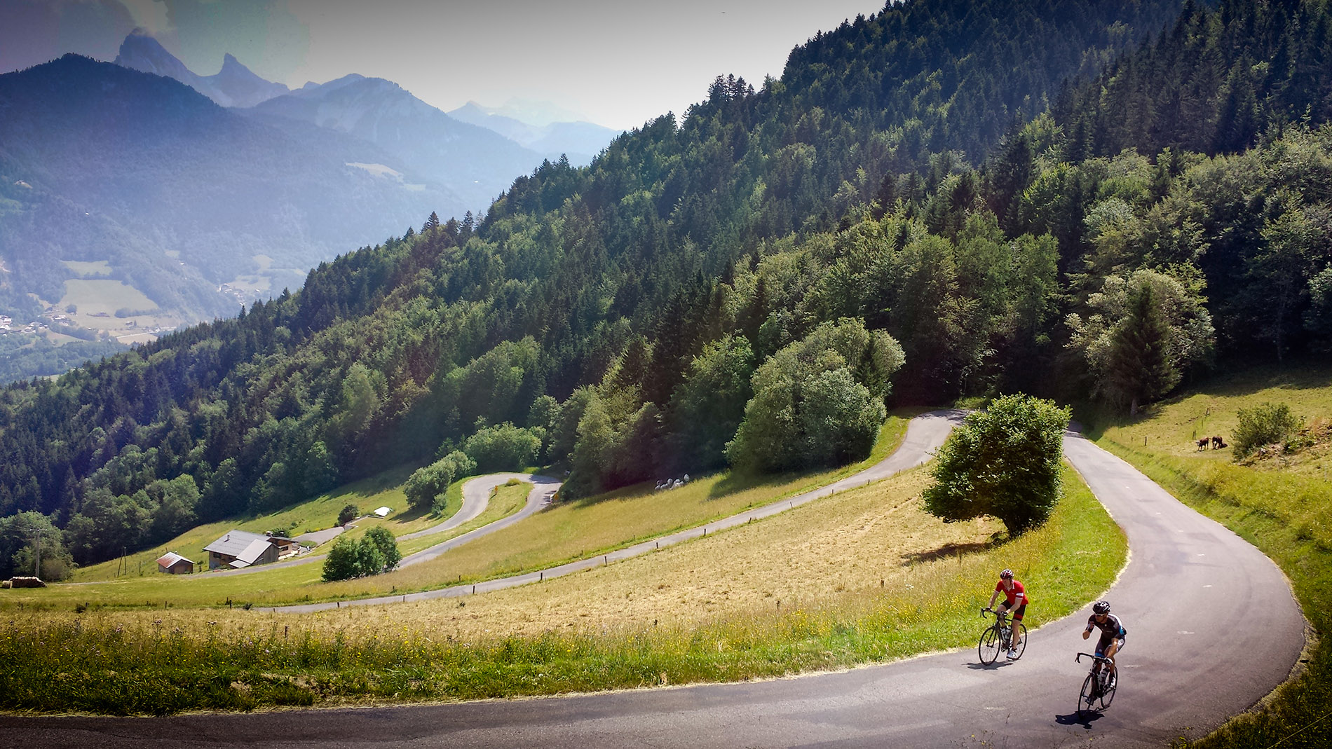Switch back bends, another stunning route on the doorstep of Velovation.