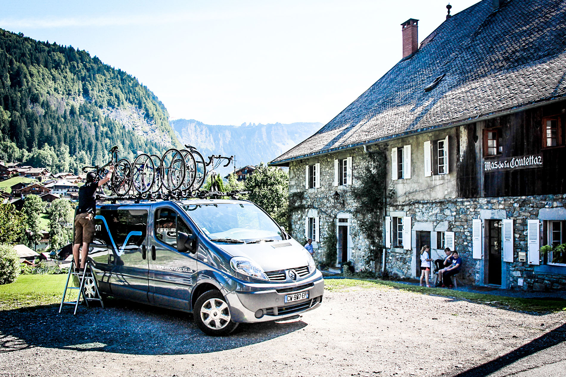 The Velovation support van being unloaded after a supported ride.
