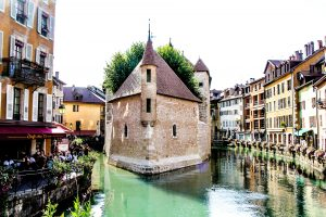 One of the iconic views in the medieval town of Annecy