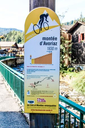 The start of the climb up to Avoriaz from Morzine