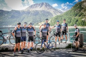 Velovation guests wearing their new Velovation Jerseys on their cycling holiday