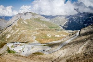 Big views from the top of the Col du Galibiere on Velovations Big One Tour and Route des grandes alpes