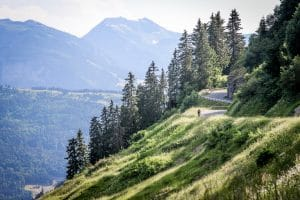 The Snaking road at the top of the Col de Joux Plane