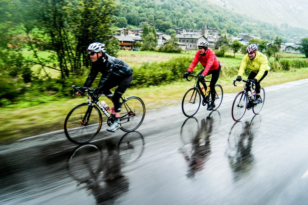 Road Cycling in the rain
